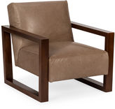 One Kings Lane Roma Chair, Pewter Leather