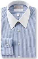 Roundtree & Yorke Gold Label Non-Iron Regular Full-Fit Point Collar Striped Dress Shirt