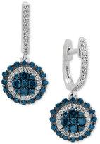 Effy Bella Bleu by Diamond Disc Drop Earrings (1-1/4 ct. t.w.) in 14k White Gold