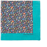 Paul Smith Bright Leaf Cotton Pocket Square, Navy
