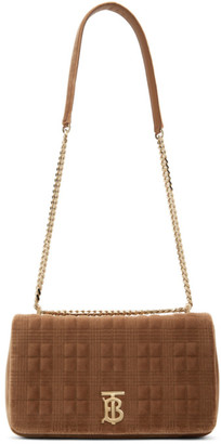Burberry Brown Velvet Medium Lola Shoulder Bag