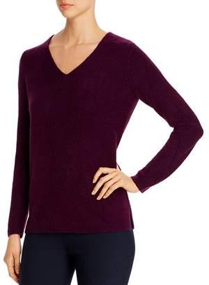 Calvin Klein Geo-Stitched V-Neck Sweater