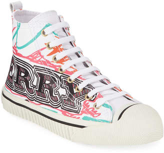 Burberry Graphic Logo High-Top Sneakers