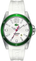Lacoste 2010664 Seattle White Silicone Strap 43mm Men's Watch