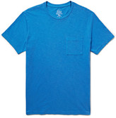 J.Crew Slim-fit Garment-dyed Slub Cotton-jersey T-shirt - Azure