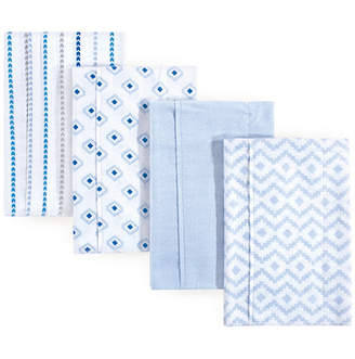 Hudson Baby Unisex Baby Flannel Burp Cloths, 4-Pack, One Size