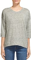 Whistles Linen Laura Three-Quarter Sleeve Tee