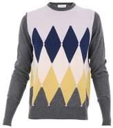 Ballantyne Men's Multicolor Cashmere Sweater.