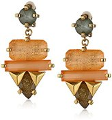Erickson Beamon Rocks Large Multi-Stone Drop Clip-On Earrings