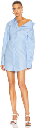 Y/Project Asymmetric Shirt Dress in Light Blue | FWRD