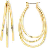 Liz Claiborne Gold-Tone Layered Oval Hoop Earrings