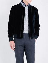 Richard James Regular-fit velvet bomber jacket