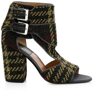 Laurence Dacade Rush Ankle-Buckle Tartan Sandals