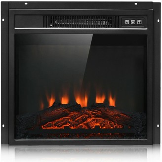 """Overstock 18"""" Electric Fireplace Freestanding & Wall-Mounted Heater Log Flame"""