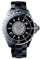 Chanel J12 Quartz H2122 Black Ceramic Pave Diamond Watch