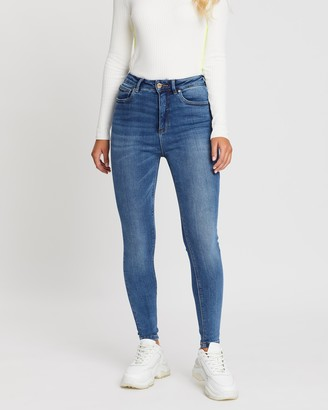 Only Mila High-Waisted Ankle Skinny Jeans