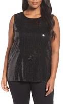 Vince Camuto Plus Size Women's Sequin Tank