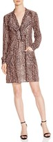 BCBGMAXAZRIA Damario Cheetah Print Tie Neck Dress - 100% Exclusive