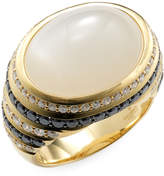 Effy Women's 18K Yellow Gold, Diamond & Moonstone Ring