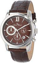 Lucien Piccard Men's LP-12356-04 Mulhacen Chronograph Textured Dial Leather Watch