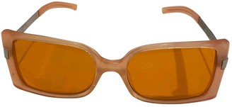 Courrã ̈Ges CourrAges Orange Plastic Sunglasses