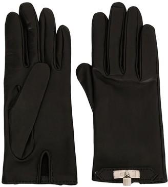 Hermes Pre Owned padlock detail gloves