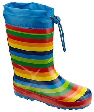 John Lewis & Partners Children's Rainbow Topper Wellington Boots, Multi
