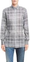 Lanvin Men's Plaid Cotton Sport Shirt