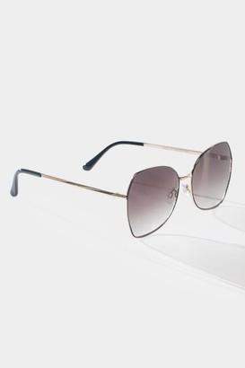 francesca's Austin Ombre Sunglasses in Black - Black