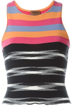 Missoni Pre Owned Striped Tank Top
