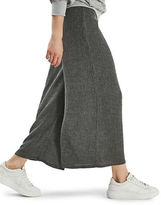 Topshop Textured Wide-Leg Trousers