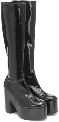 Dries Van Noten Patent leather platform boots