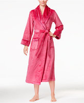 Charter Club Petite Super Soft Texture-Trimmed Long Robe, Only at Macy's