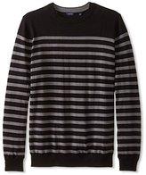 Thirty Five Kent Men's Silk/Cotton Nautical-Stripe Crew-Neck Sweater
