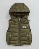 Moncler Patrick Detachable-Hood Vest, Olive