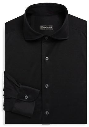 Corneliani Solid Jersey Dress Shirt