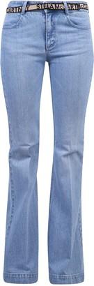 Stella McCartney Belted Flared Denim Jeans