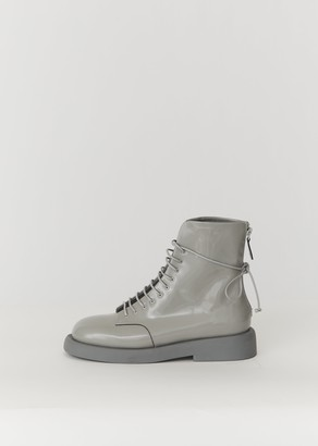 Marsèll Gomma Gommello Patent Leather Boots Grey