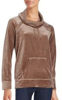 Calvin Klein Funnel Neck Cotton Blend Pullover
