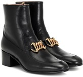 Gucci Horsebit Chain leather ankle boots