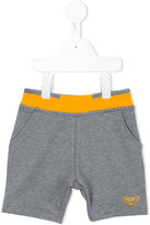Armani Junior logo shorts - kids - Cotton/Spandex/Elastane - 12 mth
