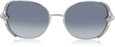 Roberto Cavalli SUBRA 974S Metal Square Oversized Women's Sunglasses w/Crystals
