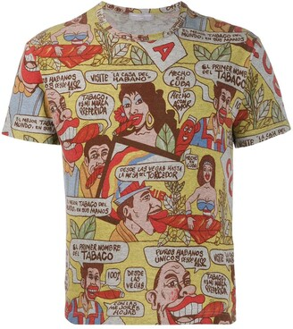 Comme Des Garçons Pre Owned 2002 Comics Print T-Shirt