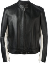 Maison Margiela elbow patch leather jacket - men - Sheep Skin/Shearling/Viscose - 48
