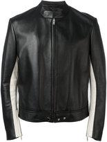Maison Margiela elbow patch leather jacket - men - Sheep Skin/Shearling/Viscose - 50