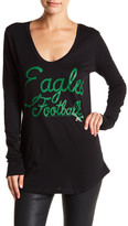 Junk Food Clothing Philly Eagles Long Sleeve Tee