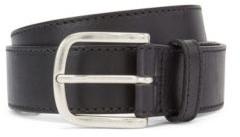 HUGO BOSS Pin Buckle Belt In Vegetable Tanned Italian Leather - Black