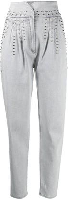 Alberta Ferretti Stud-Detail Jeans