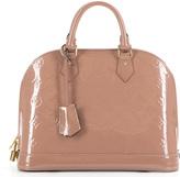 Louis Vuitton Vernis Rose Velours Alma PM Bag