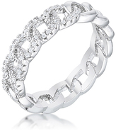 Kate Bissett Cubic Zirconia & Silvertone Interlocking Chain Ring